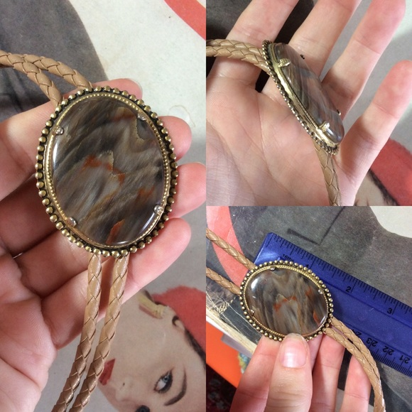 Vintage Other - Real Stone Bolo Tie